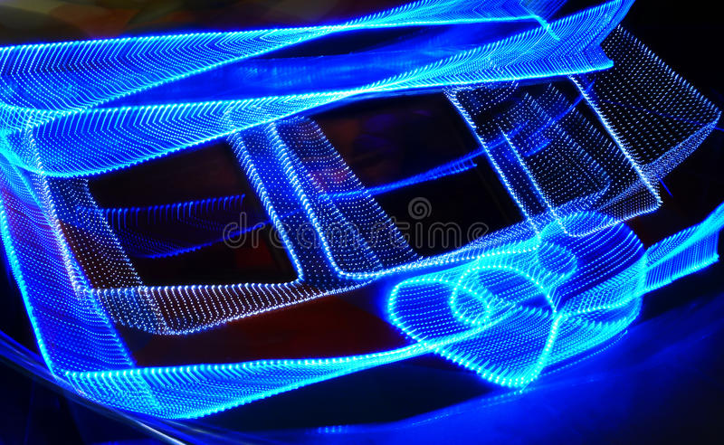 Love. A love-shape neon light royalty free stock images