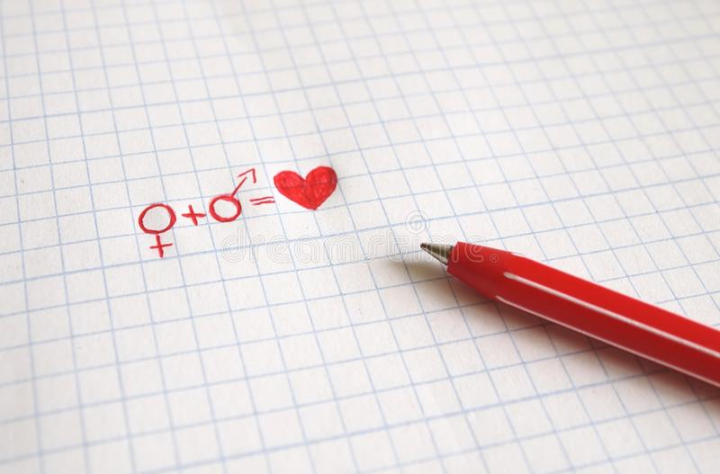 Download Love stock image. Image of pencil, paper, woman, abstract - 17036027