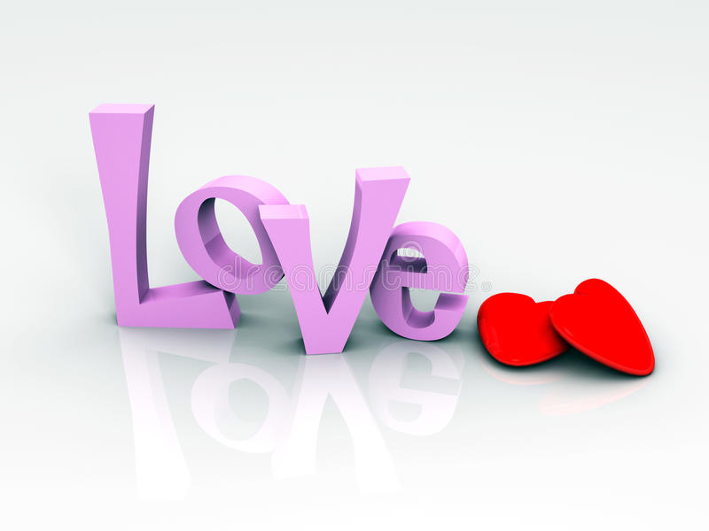 Download Love with 2 Hearts stock illustration. Image of lifestyle - 10208334