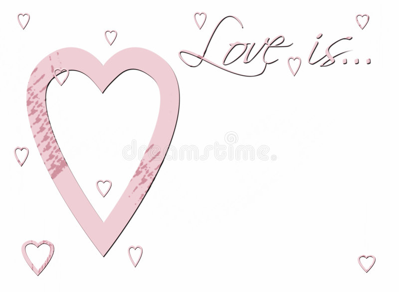 Download Love is ... stock image. Image of valentine, greeting - 3725431