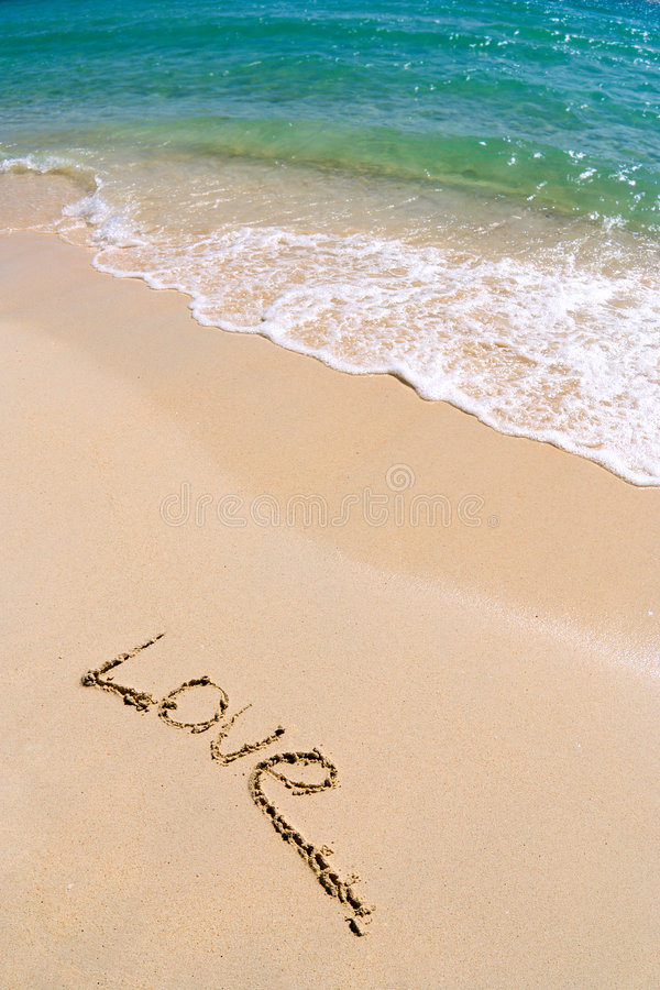 Love... Love on the sand royalty free stock photo
