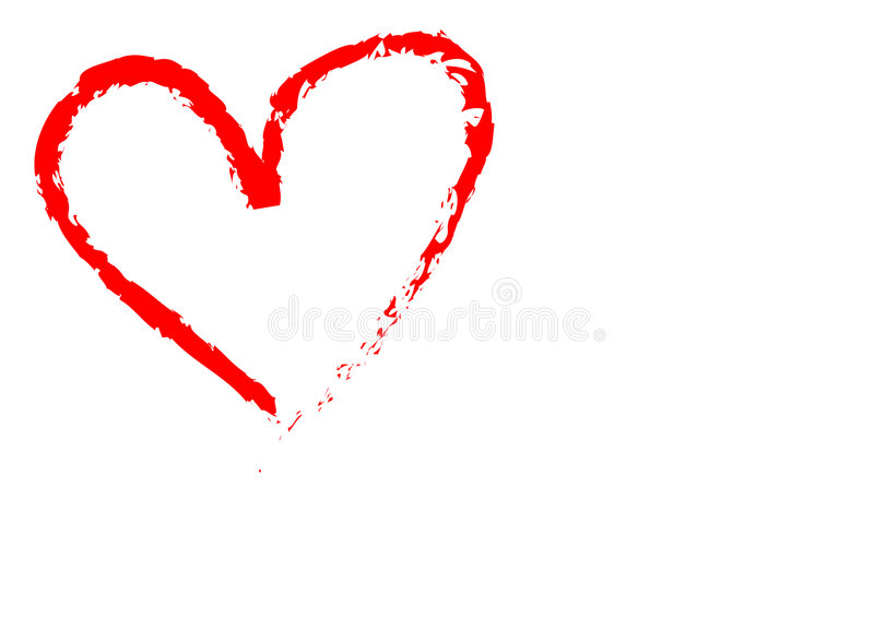 Love. Stokes painting on isolated background royalty free stock image
