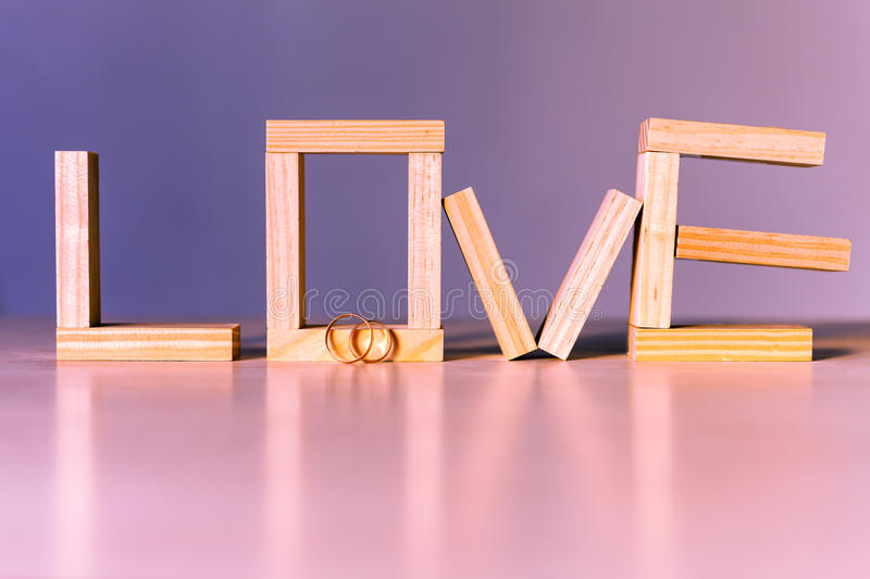 Love abstract background. With golden rings for proposing stock photos