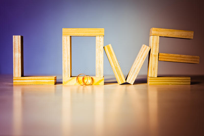Love abstract background. With golden rings for proposing royalty free stock photography