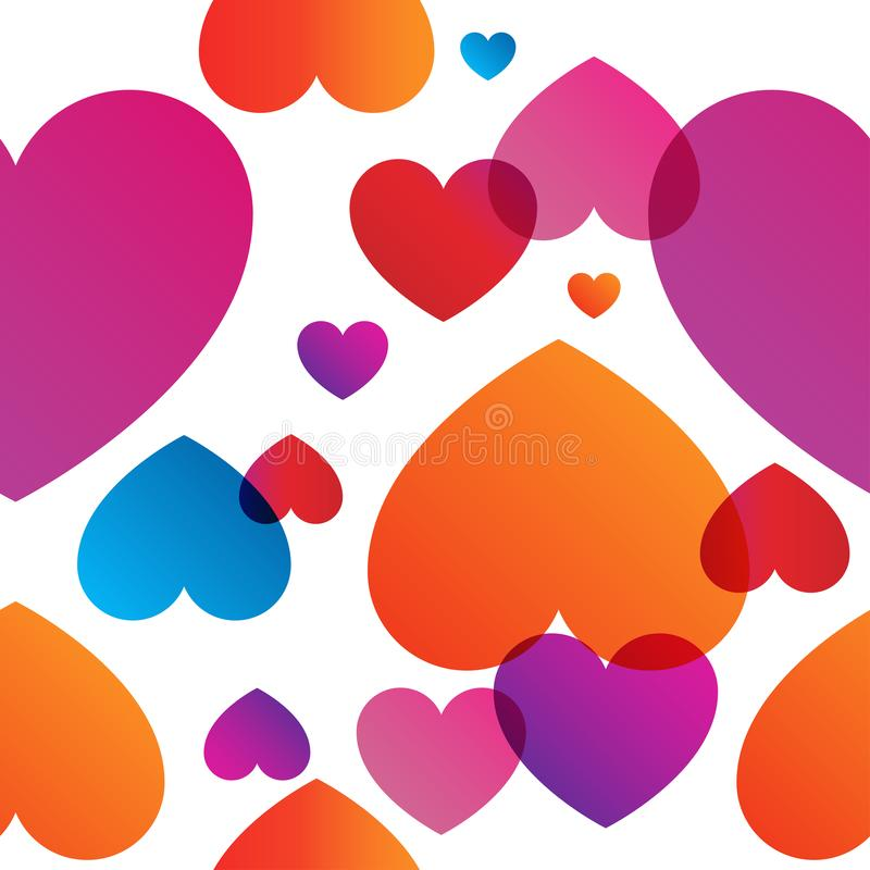 Love Actually vector colorful trendy seamless pattern. Love Actually vector colorful seamless pattern. Color transitions and simple shape, trend 2019 vector illustration
