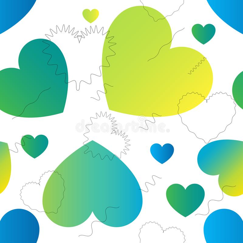 Love Actually vector colorful trendy seamless pattern. Love Actually vector colorful seamless pattern. Color transitions and simple shape, trend 2019 royalty free illustration