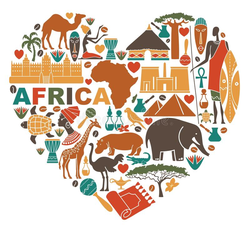 Love for Africa vector illustration