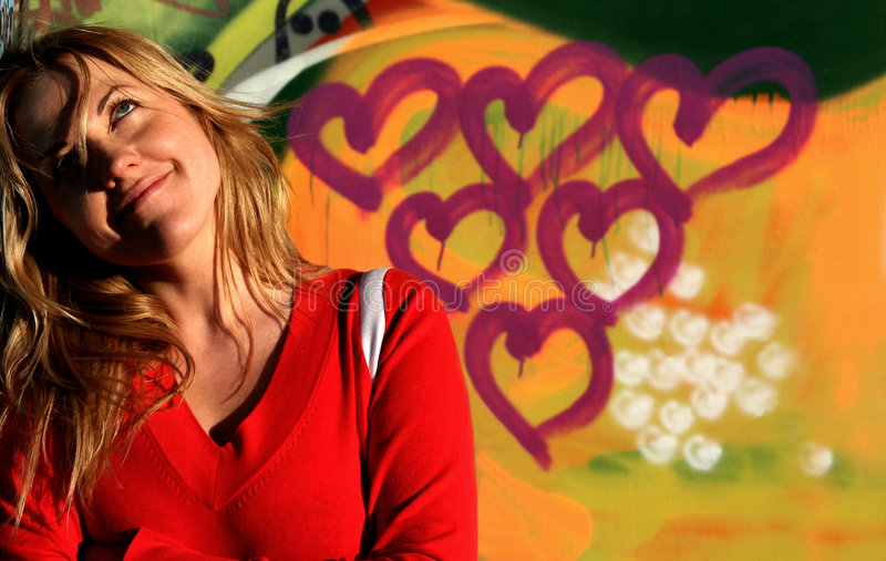 Download Love is in the air stock photo. Image of graffity, background - 884160