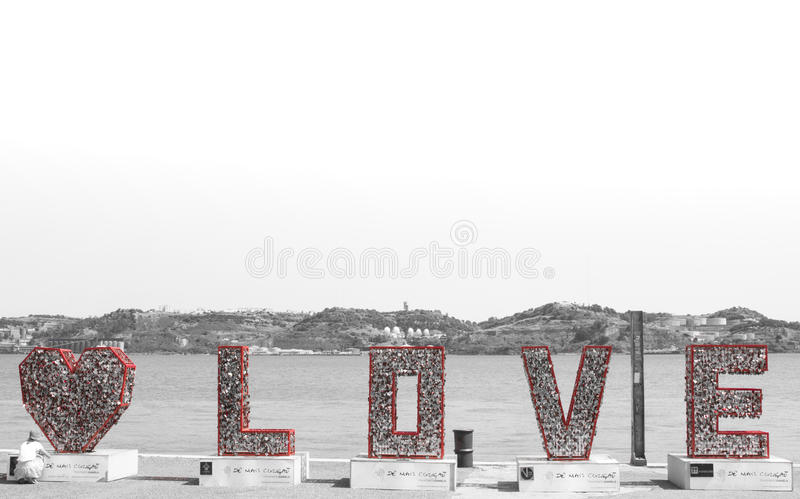 Love. Is in the air also in Lisboa royalty free stock photo