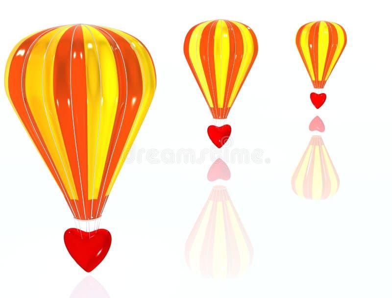 Love air-baloon vector illustration