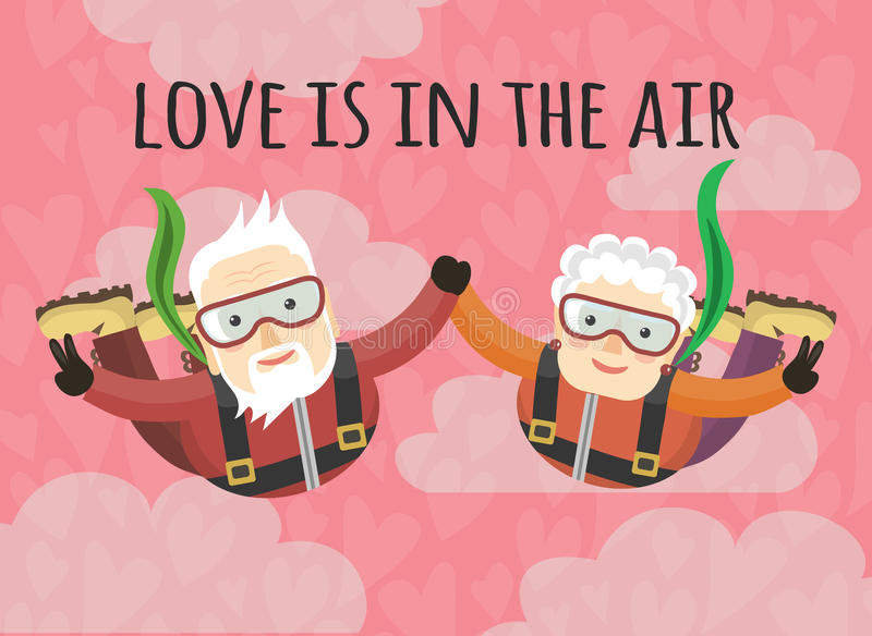 Love is in the air stock illustration