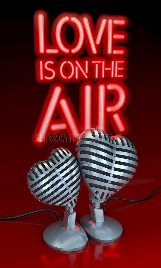 Love is on the air royalty free illustration