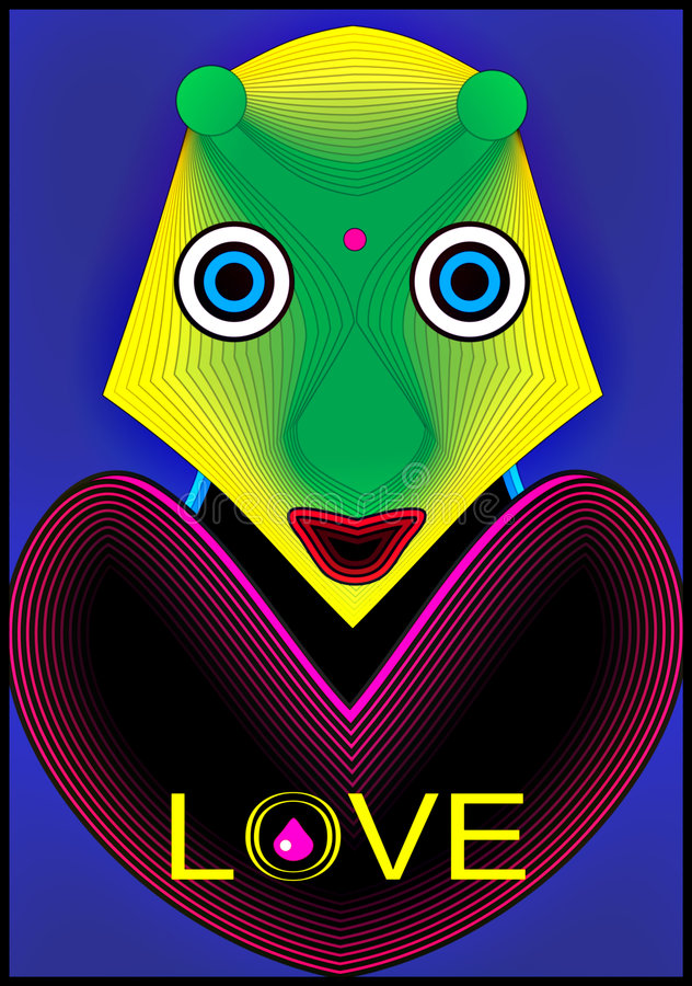 Download Love Alien stock illustration. Illustration of abstract - 4551834