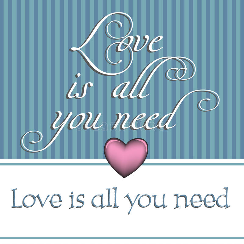 Love is all you need stock photography