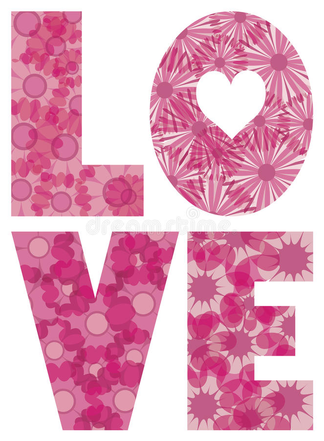 Download LOVE Alphabet With Flowers Illustration Stock Image - Image: 28019491