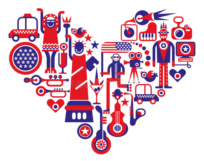 Love America vector illustration