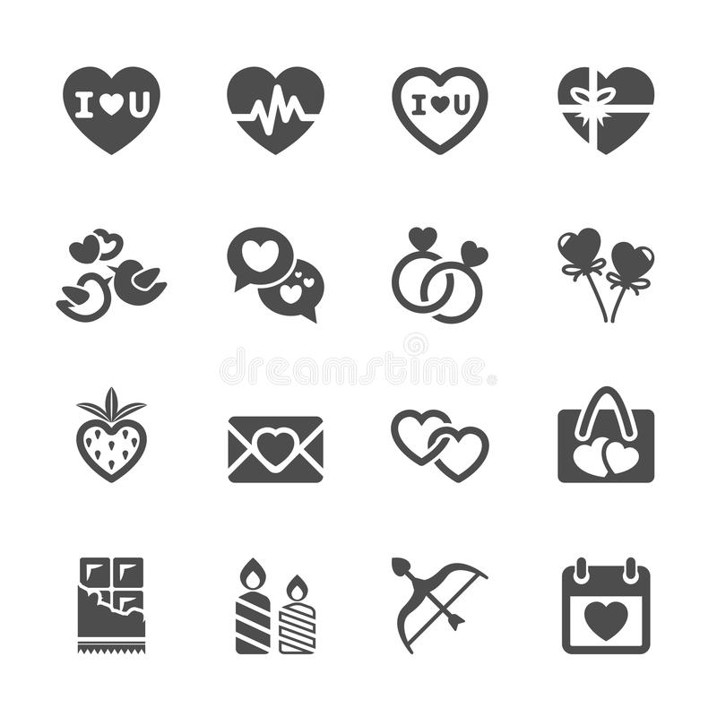 Free Love And Valentine Icon Set 2, Vector Eps10 Stock Images - 48593254