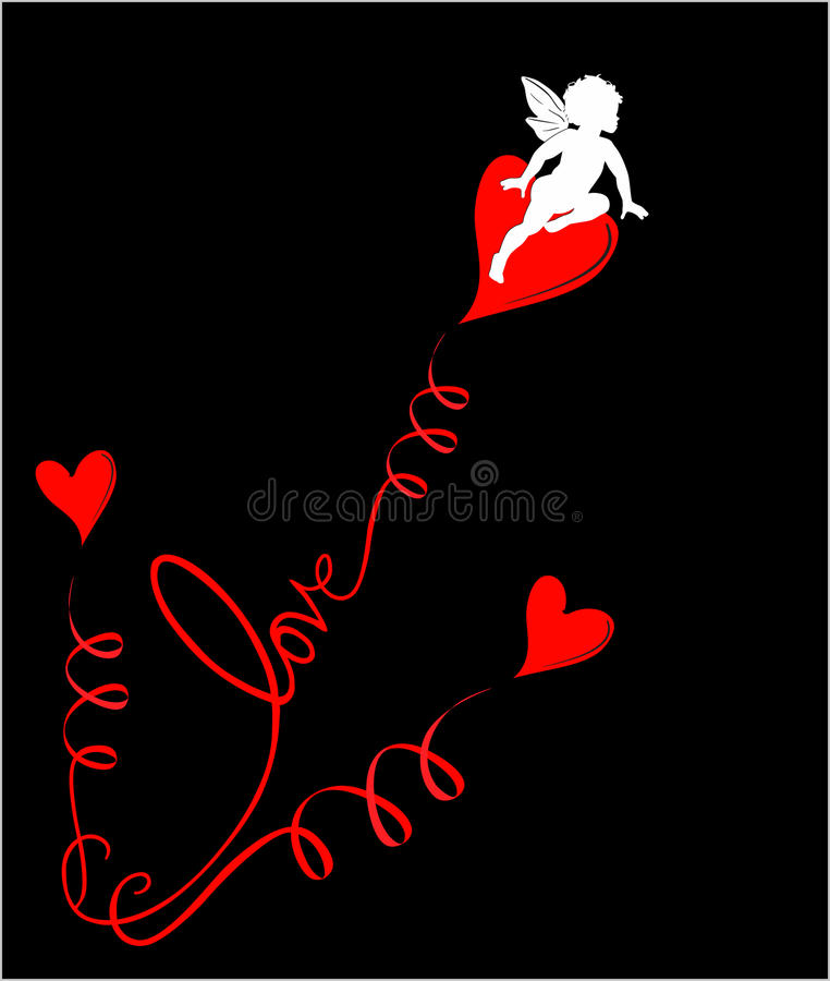 Download Love angel Eros stock vector. Image of heaven, naked - 17298292