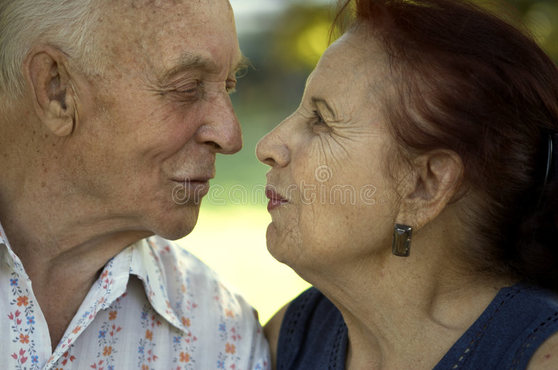 Love in any age royalty free stock photos