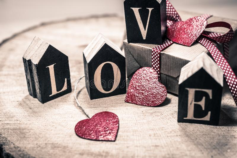 Love as a gift royalty free stock image