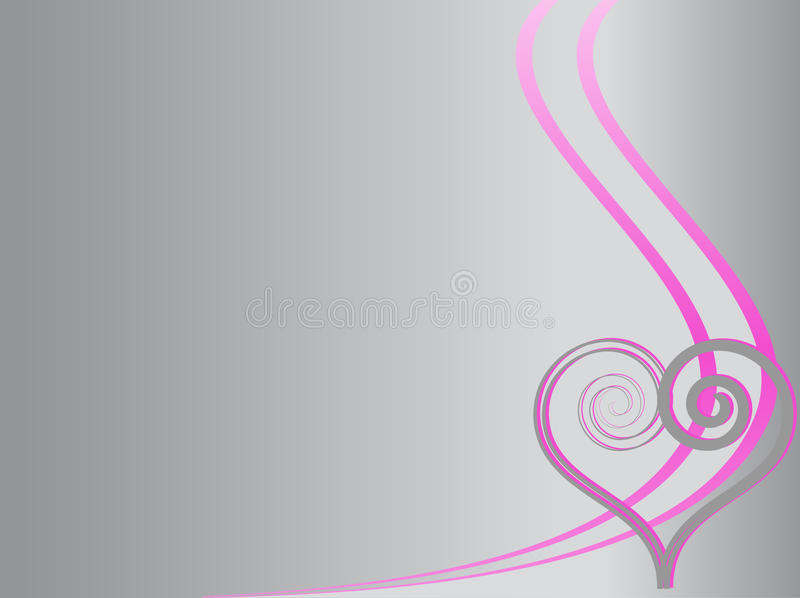 Love background with swirl and heart royalty free stock photos