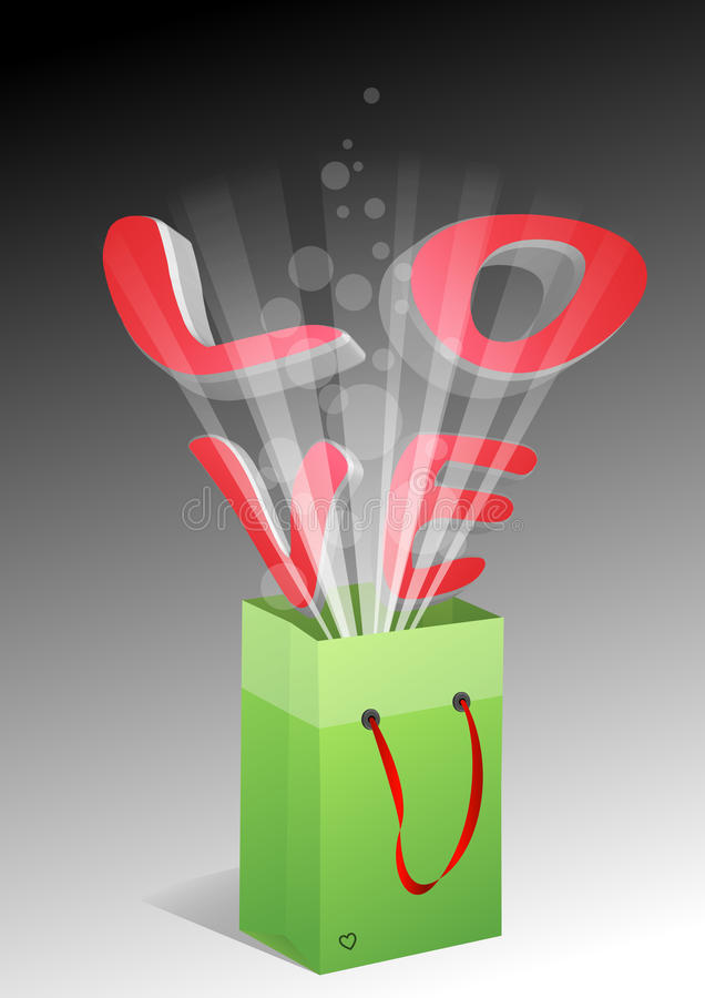 Download Love bag stock vector. Image of sale, valentine, retail - 23190045