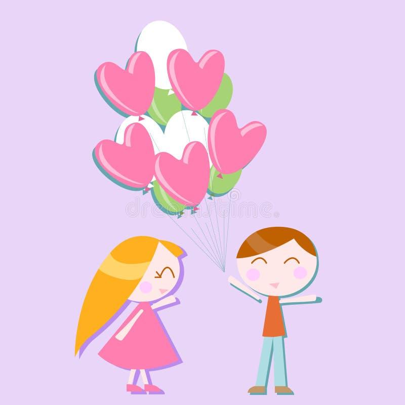 Love balloon vector royalty free illustration