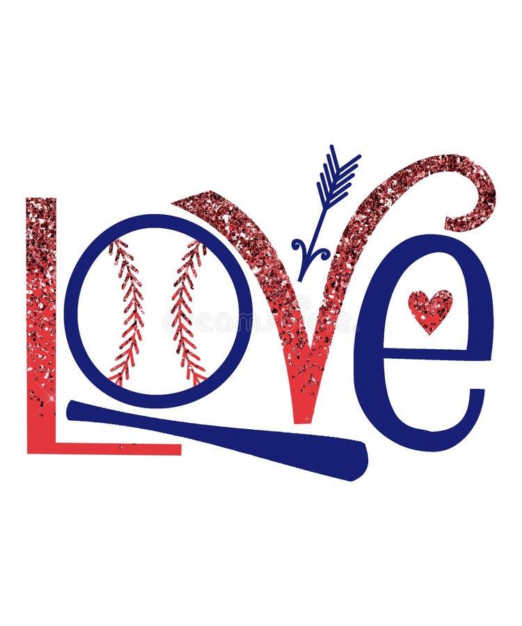 Love Baseball Graphic Stock Illustration Illustration Of Love 170210817