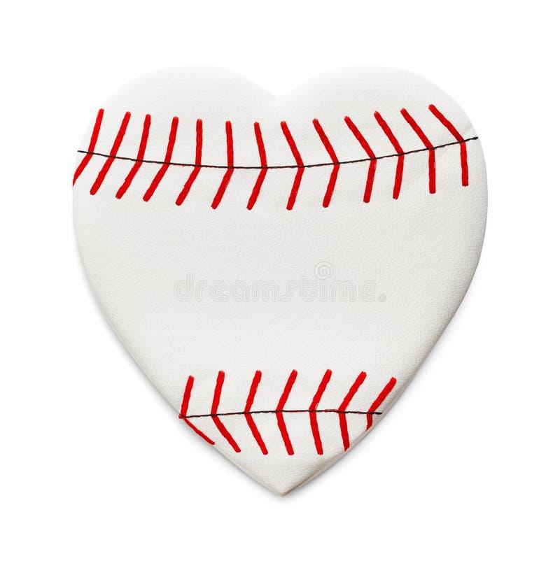 Love Baseball. Heart Shaped Baseball Isolated on White Background stock photography