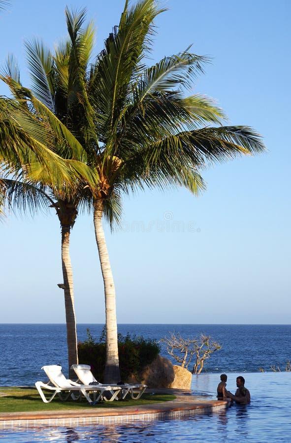 Love at beach stock photo