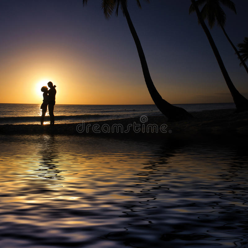 Love on the beach stock image