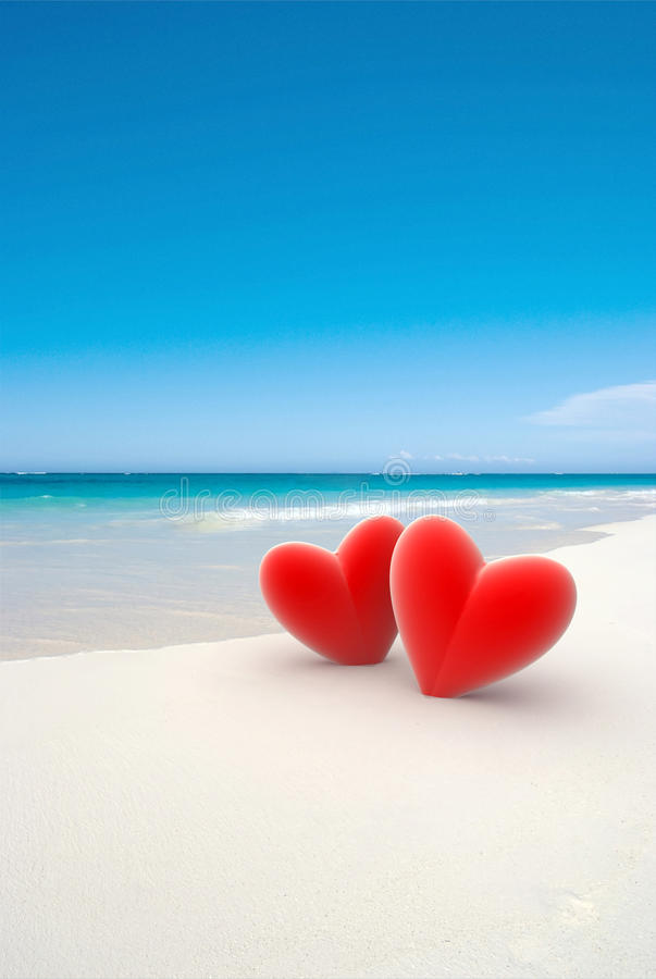 Love at the beach royalty free stock images