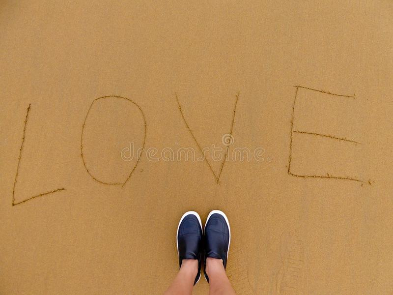 Love on beach royalty free stock photo
