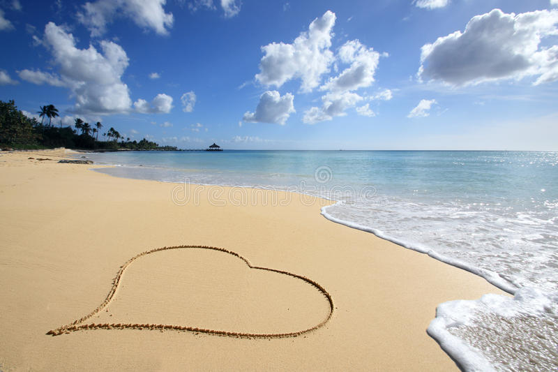 Love on the beach stock photos