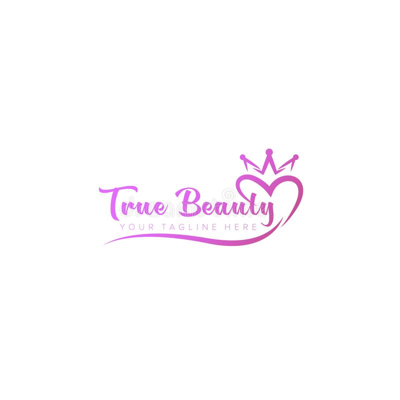 Love and Beauty Logo Design, Typography stock illustration