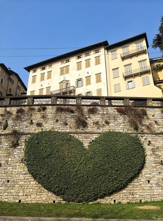 Love in Bergamo. Italy, heart, life, nature, makelove, trave, travel, floverheart, city, street royalty free stock images