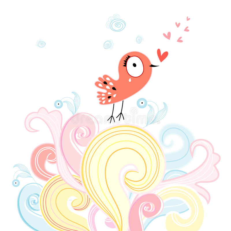 Download Love bird stock vector. Illustration of valentines, abstract - 28343801