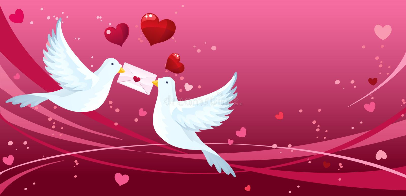 Download Love birds stock vector. Image of flying, background - 14334796