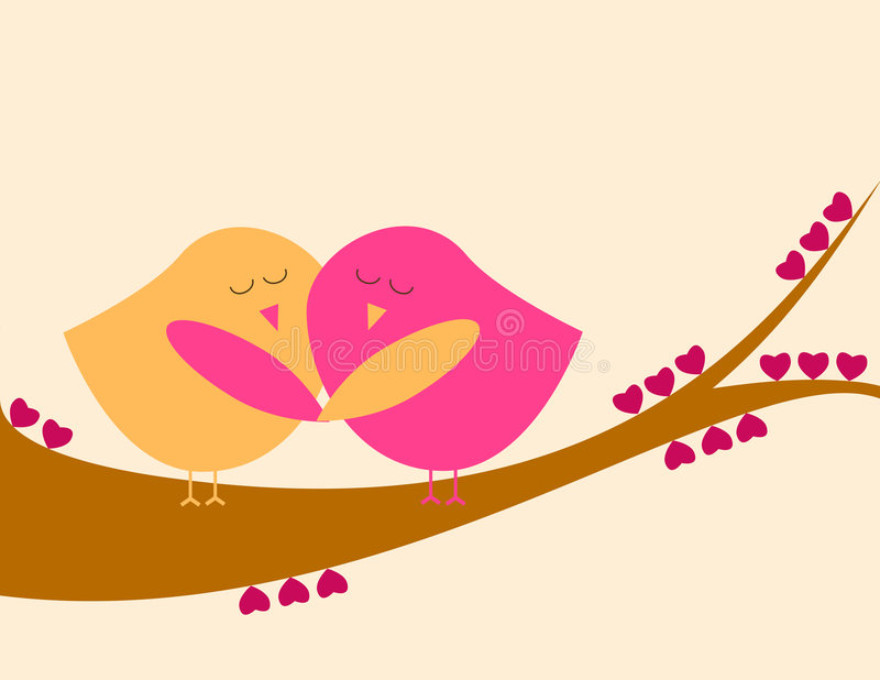 Love birds royalty free stock photo