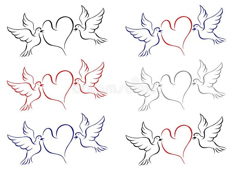 Download Love birds stock vector. Illustration of dove, element - 30974785