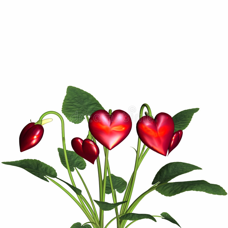 Download Love In Bloom 4 stock illustration. Image of valentine - 1704576