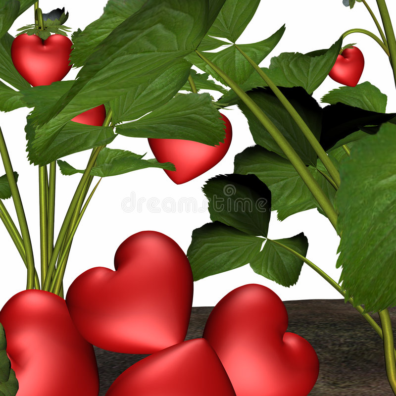 Download Love In Bloom 6 stock illustration. Illustration of green - 1704571
