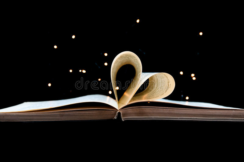 Love of book. royalty free stock photo