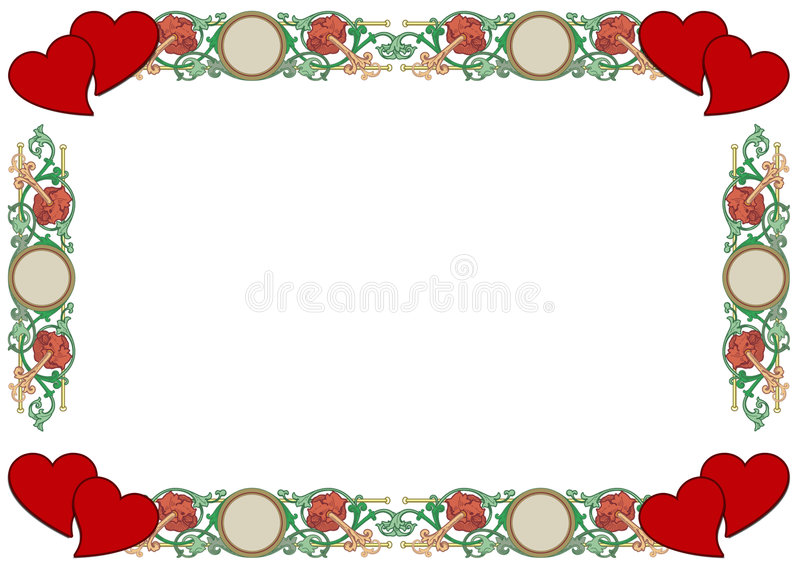 Love Border royalty free stock images