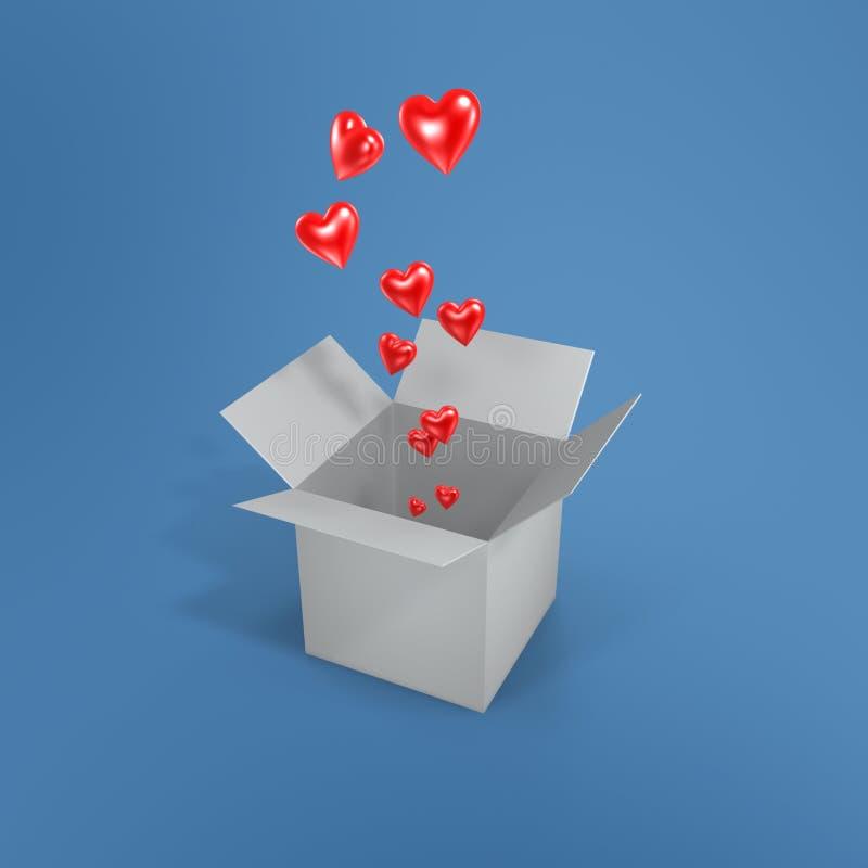 Love and box royalty free illustration