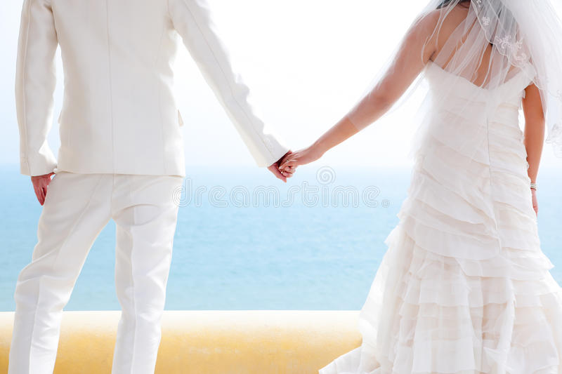 In love bride and groom stock photos
