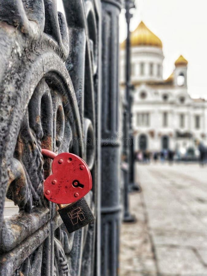 Love bridge moscow, Russia stock photo