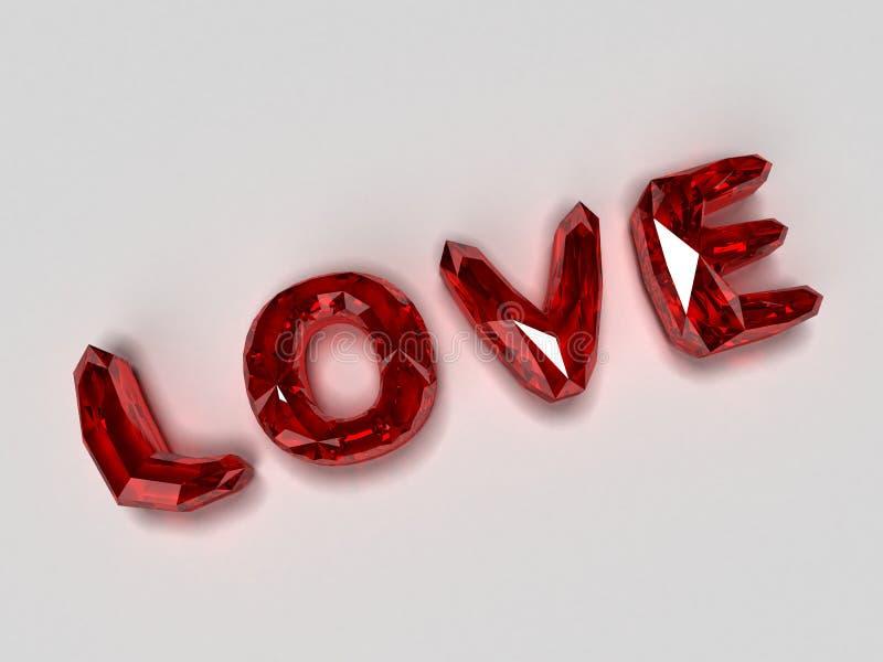 Love brilliants. 3d rendered illustration of red brilliants royalty free illustration