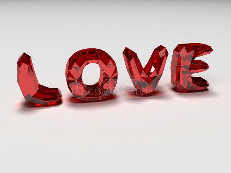 Love brilliants. 3d rendered illustration of red brilliants stock illustration