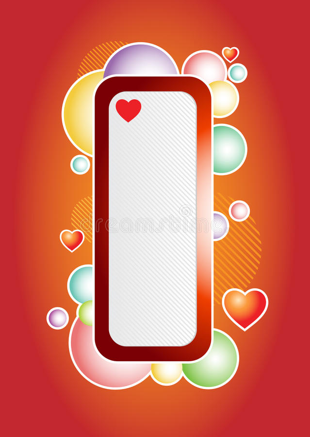 Download Love bubles banner stock vector. Illustration of card - 22636378